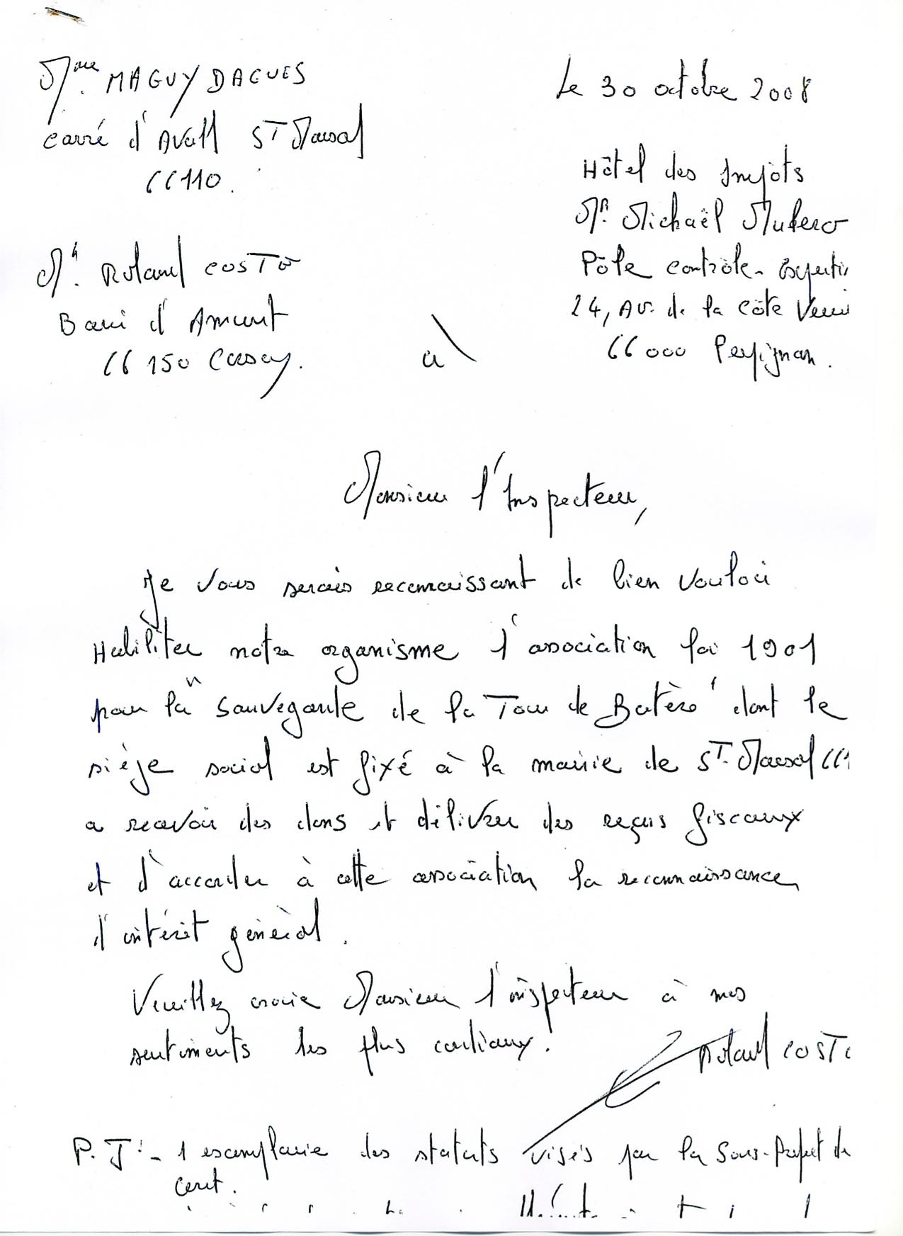 lettre à la DGFP